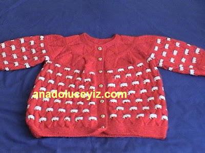 örgü çocuk hırkası DVC01026