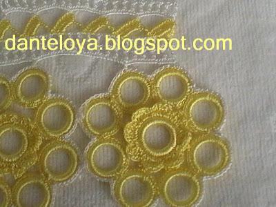 Halkalı havlu danteli, Halkalı havlu danteli örneği