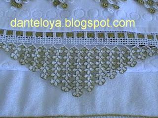 dantel havlu kenarı, havlu kenar danteli, havlu kenar örnekleri