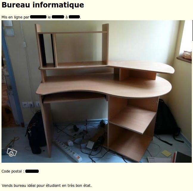 Le b tisier des petites annonces apr s l 39 tudiant moderne - Bureau peu encombrant ...