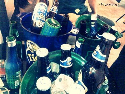 us had at least 20 buckets of beer (1 bucket = 5 small bottles)!