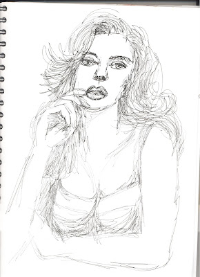 Liz Blair's sketch of Scarlet Johansson