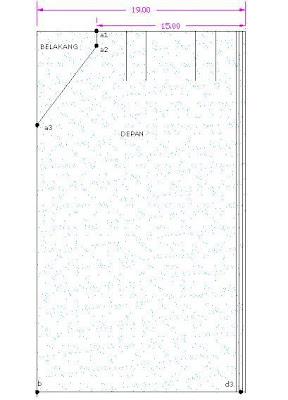 cara mudah jahit pinggang kain a pinggang kain lapik pinggang diambil ...