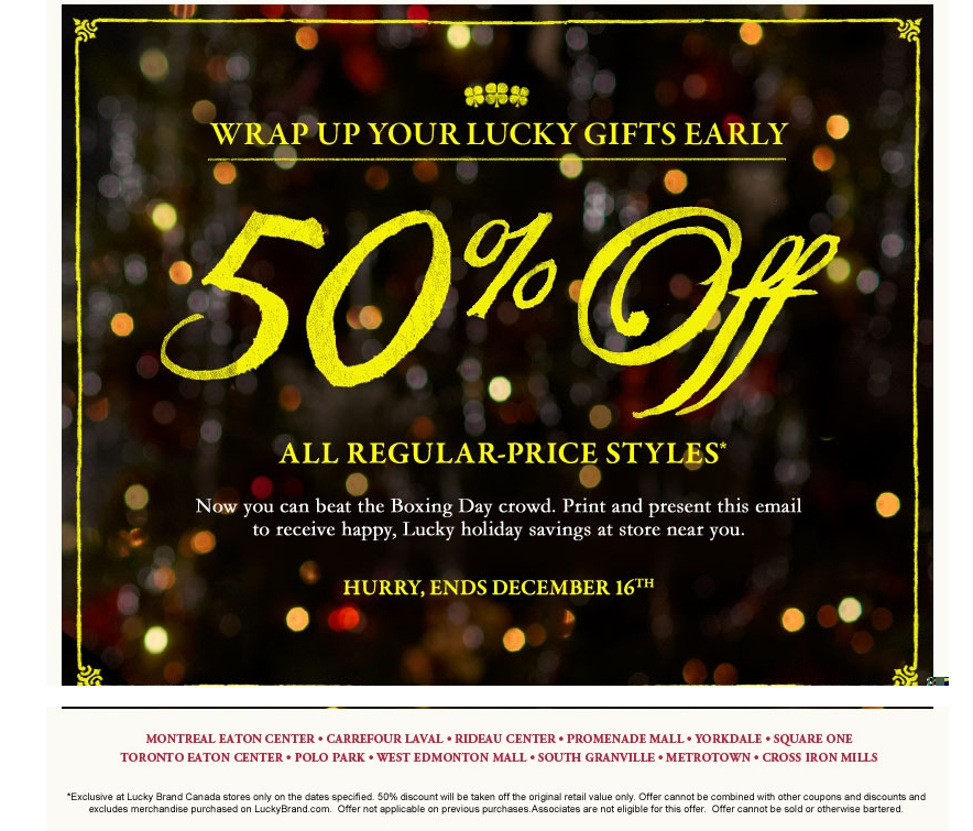 Lucky brand coupon codes