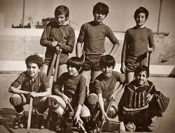 IGUALADA HOQUEI CLUB 1972/73? PUIG, ROCA, PUJOL, DOMNECH, FILLAT, SOL, MORIST