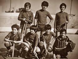 IGUALADA HOQUEI CLUB 1972/73? PUIG, ROCA, PUJOL, DOMÈNECH, FILLAT, SOLÀ, MORIST
