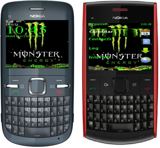 Monster Energy Theme For Nokia C3 And X2-00, X2-01