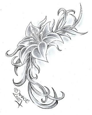 Dizain za tatuirovka cvete