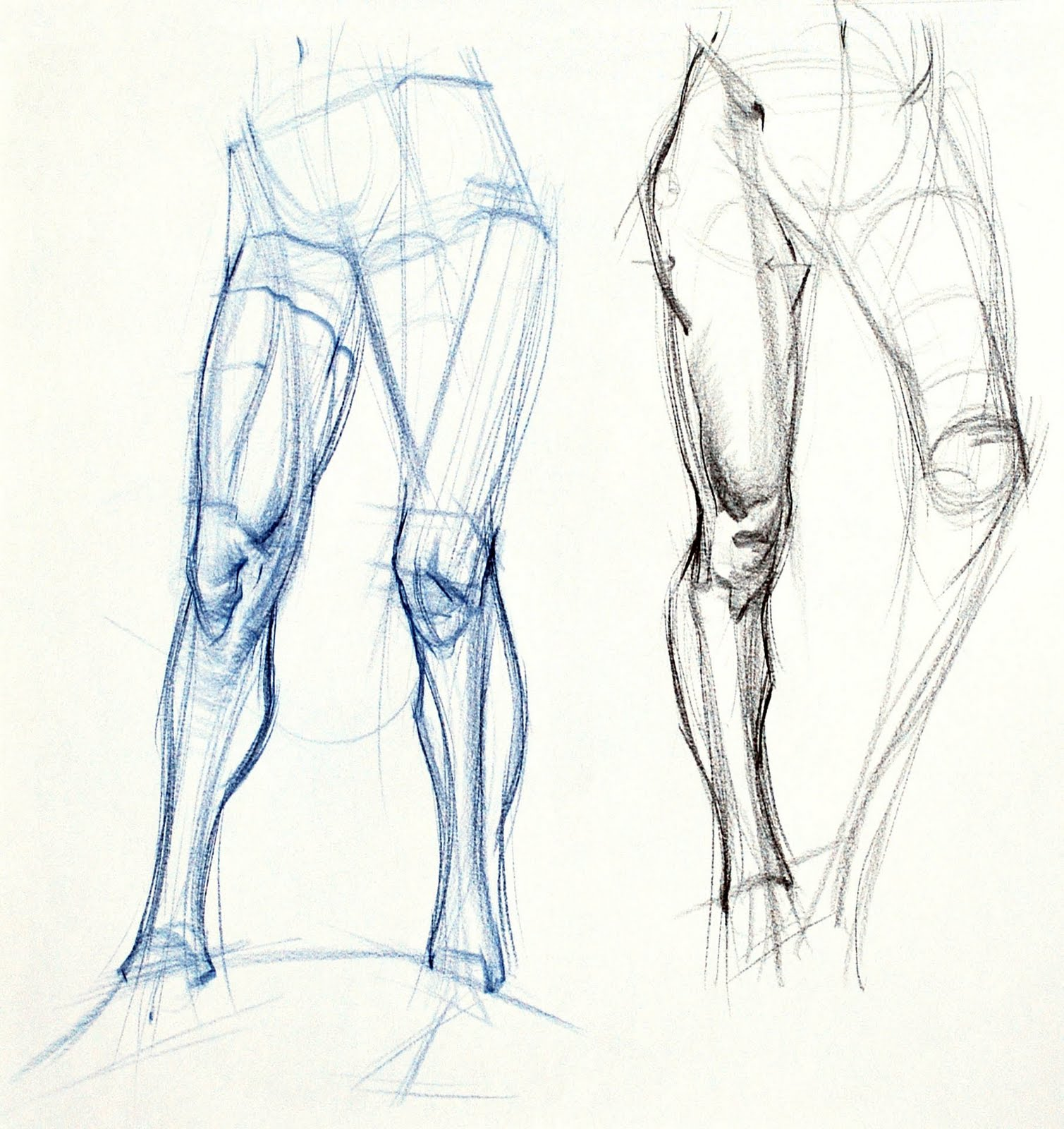 how to draw legs running in a sketch