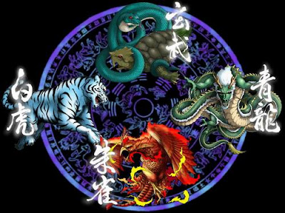 The Four Symbols, Five Cardinal Directions, and Four Legendary Beasts