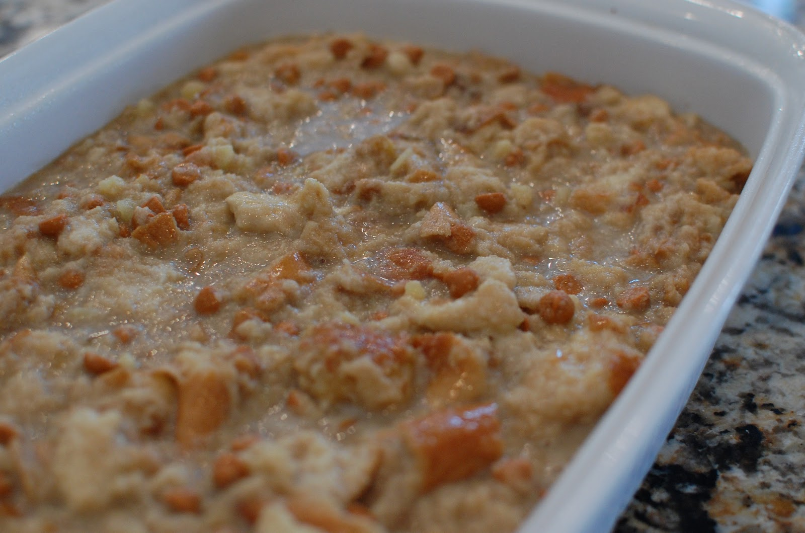 Feel The Love, Butterscotch Bread Pudding - Or so she says...