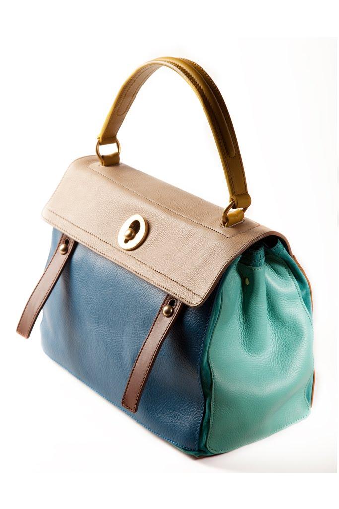 celine khaki leather clutch bag