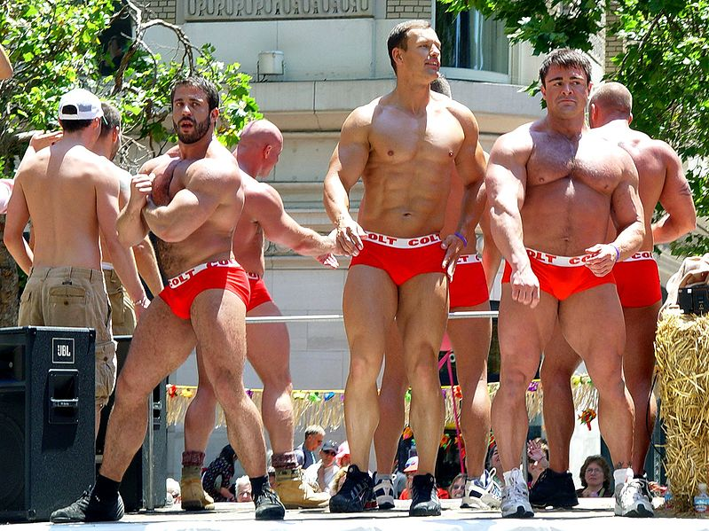799px COLT guys (San Francisco Gay Parade 2006) ... Gay Men Underwear With Thong Penis outside Size S M L+FREE SHIPPING