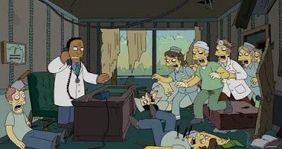 симпсоны, специальный выпуск на хэллоуин, зомби, доктор хибберт