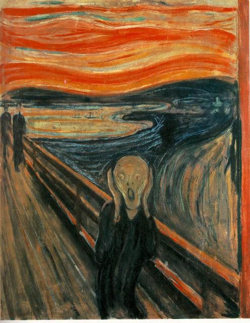 крик, эдвард мунк, картина, ужасы