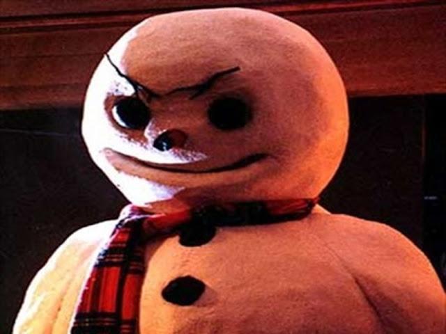 новогодние ужасы, рождественские фильмы ужасов, снеговик, страшный снеговик, страшное рождество