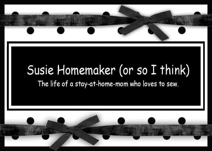 Susie Homemaker (or so I think)