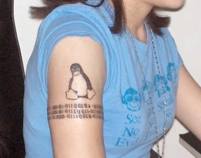 Pinguin Tattoos For Teenage Girls