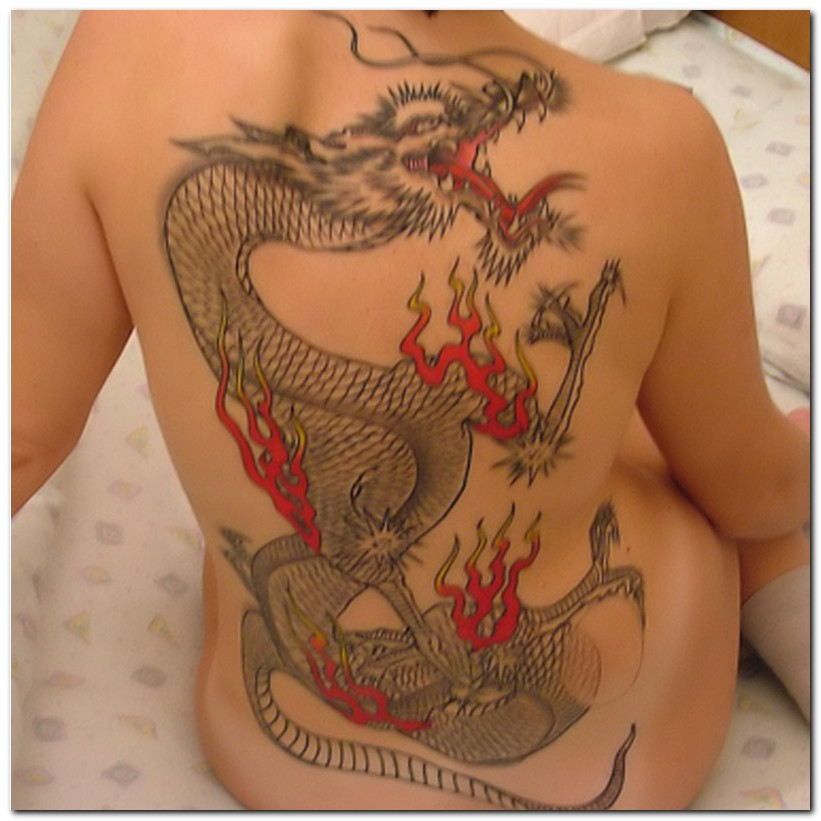 Dragon Tattoos On Back