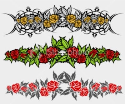 armband tattoo design. Flower Armband Tattoo Designs