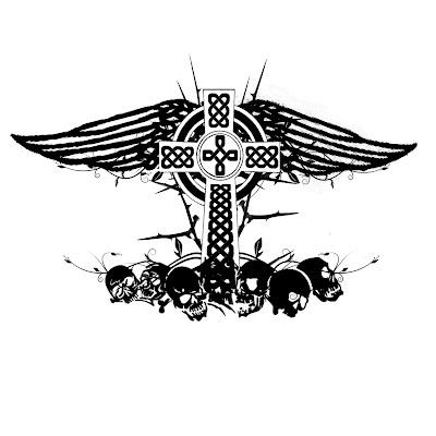 Cross Wing Tattoo on Wings Cross Tattoo