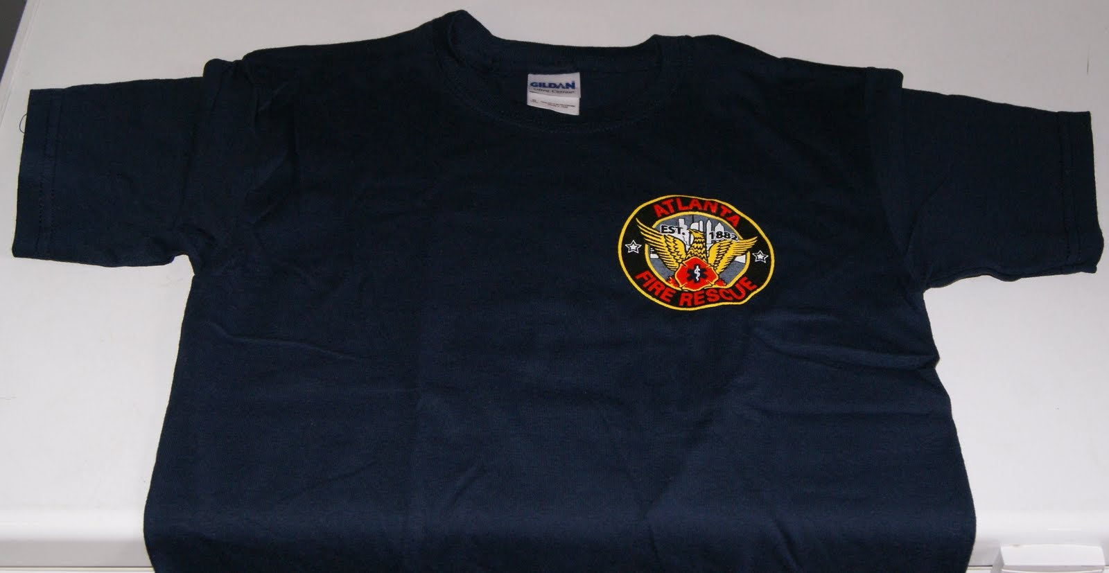 Atlanta Fire Department Design Navy Kids S M L 15 Adults XL XXL XXXL 20
