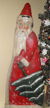 Wood Carved Father Christmas