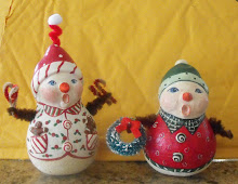 Tiny Snowmen gourds