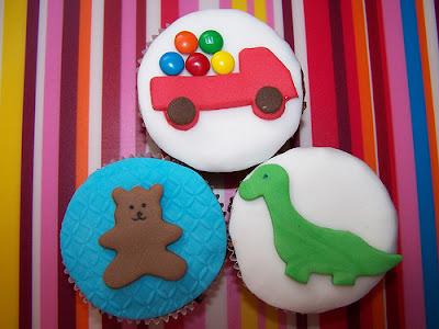 Cupcakes decorados com bichinhos