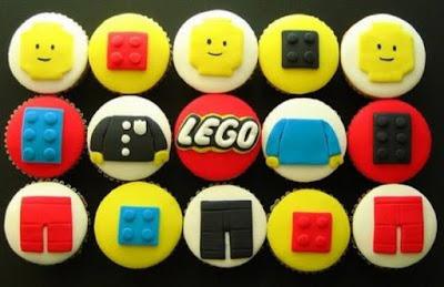Cupcakes decorados LEGO