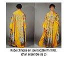 Robe chinoise jaune