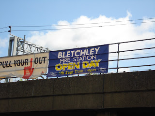 Sign for Bletchely Fire Station Open Day