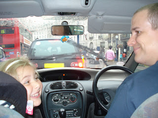 Top Ender and Daddy in the front of the car
