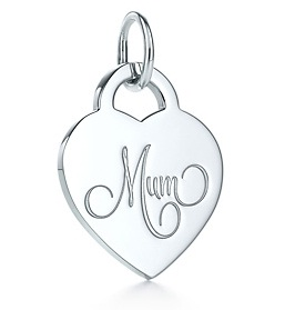Tiffany & Co Mum Heart Tag Charm