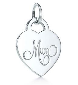 Tiffany & Co Mum Heart Tag Charm