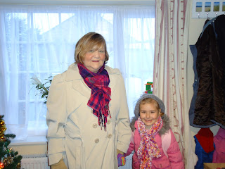 Top Ender and Granny going to School