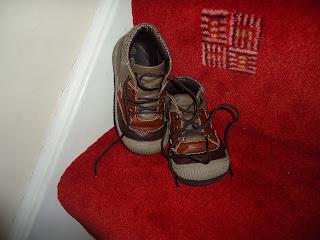Clean shoes waiting for Saint Nicholas/Sinterklass