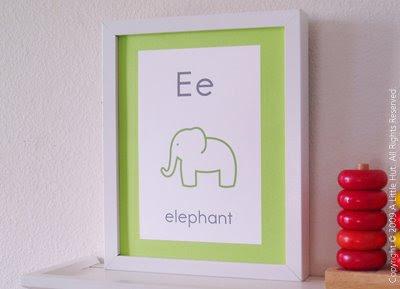 Laptops to Lullabies: Alphabet nursery art