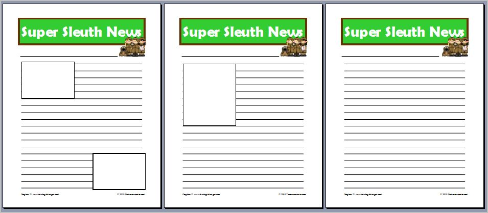 UU  Images Newspaper Template For Kids