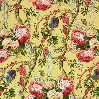 Chintz floral fabrics that are still cherished the for Chintz fabric