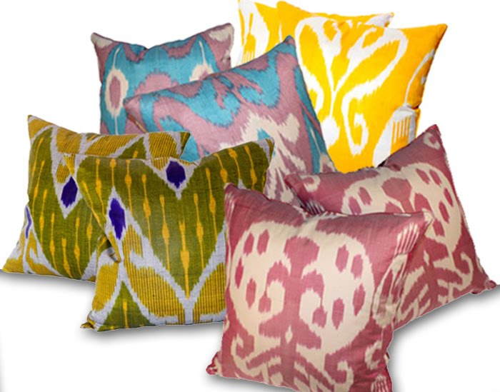 Ikat fabrics and products the designer insider for Insider design pillow