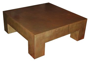 Recycled steel furniture the designer insider for Coffee table 48 x 36