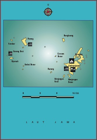 Map Of Java Indonesia. karimunjawa map