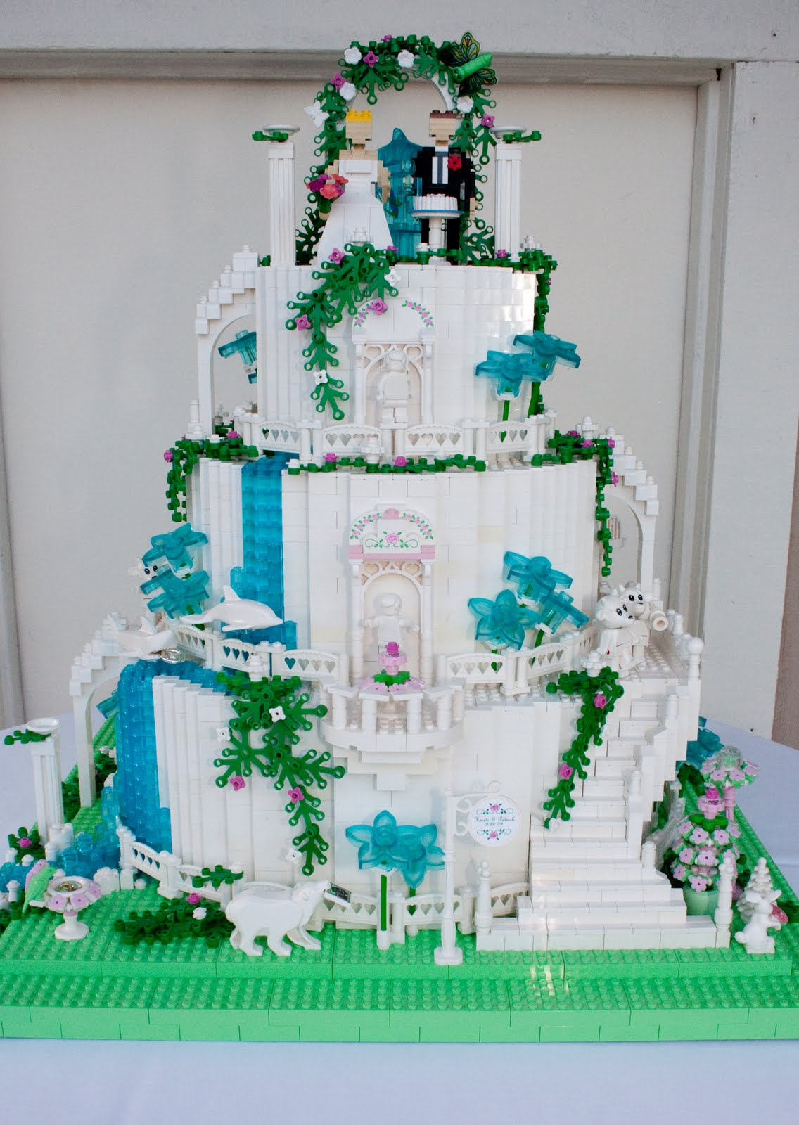 What Else Would Two Life Long LEGO Fans Have At Their Wedding Than A Cake With Some Assistance In The Beautiful And Rare Parts Department By