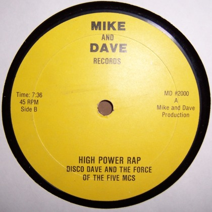 Disco Dave And The Force Of The Five MCs Crashcrew High Power Rap