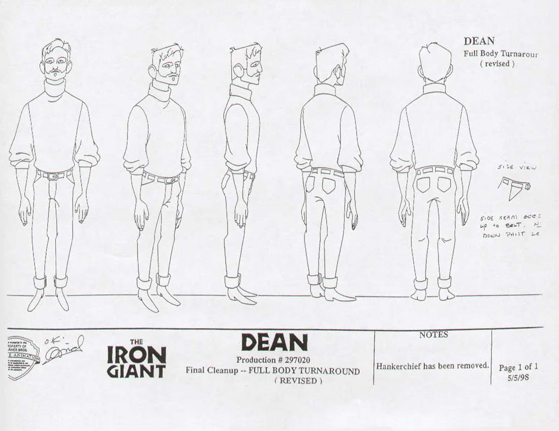 Living Lines Library The Iron Giant Character Dean Mccoppin