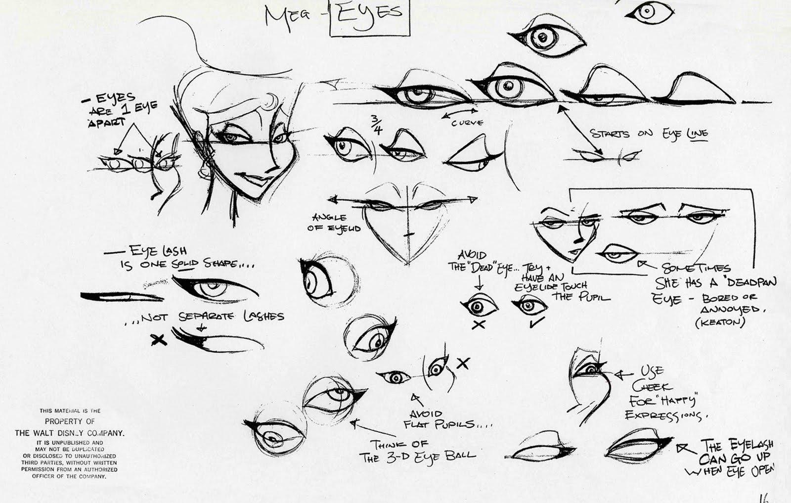 how to draw male disney eyes