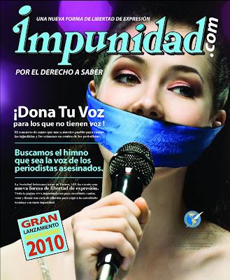 Contra las injusticias y la impunidad que rodean los crímenes contra periodistas. Dona tu voz por los que no tienen voz
