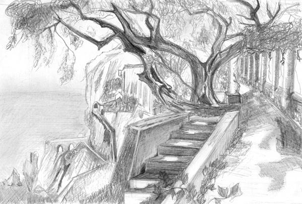 Violine exercice de dessin - Dessiner un paysage ...