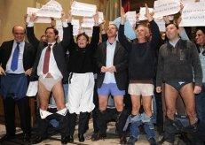 Protesto de políticos em Roma